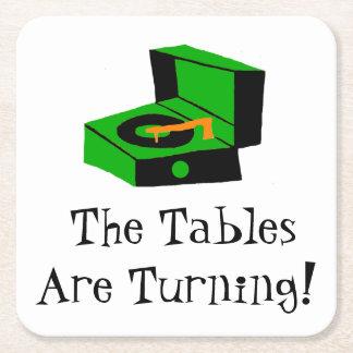 Retro Record Player Paper Coaster