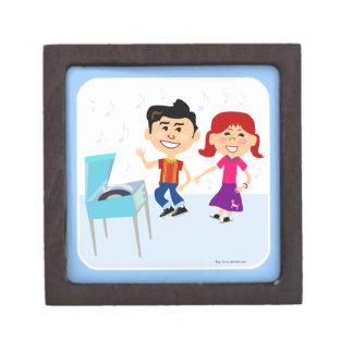 Retro Record Playing Kids Keepsake Box Premium Trinket Boxes