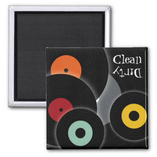 Retro Records Clean/Dirty Dishwasher Magnet