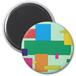 Retro Rectangle Magnet