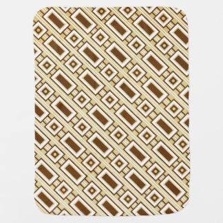 Retro Rectangles Baby Blanket - Brown