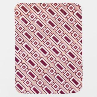 Retro Rectangles Baby Blanket - Purple