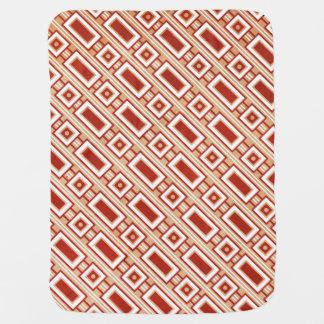 Retro Rectangles Baby Blanket - Red