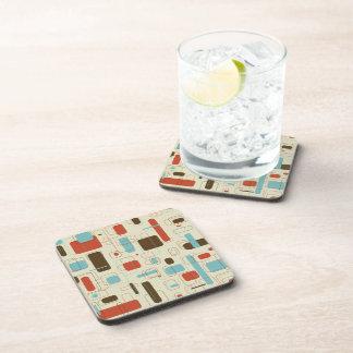 Retro Rectangles Beverage Coaster