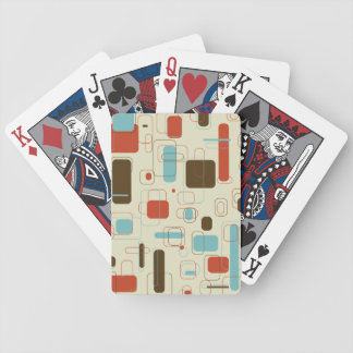 Retro Rectangles Bicycle Playing Cards