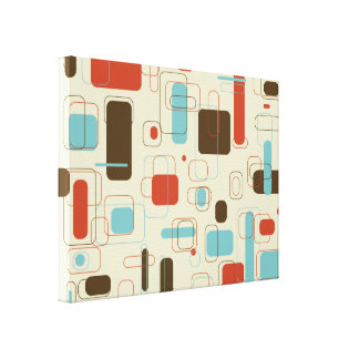 Retro Rectangles Gallery Wrapped Canvas