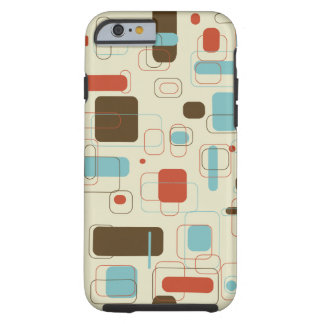 Retro Rectangles Tough iPhone 6 Case
