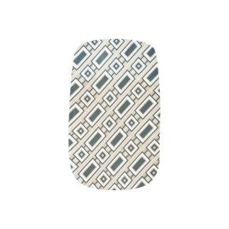 Retro Rectangles Minx Nails - Blue Minx ® Nail Wraps