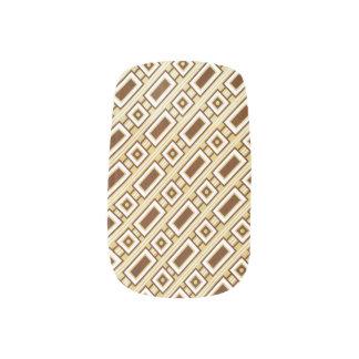 Retro Rectangles Minx Nails - Brown Minx ® Nail Wraps