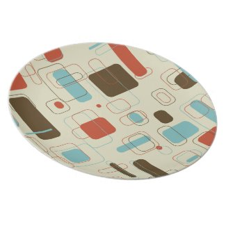 Retro Rectangles Party Plates