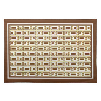 Retro Rectangles Placemat - Brown