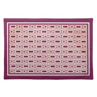 Retro Rectangles Placemat - Purple