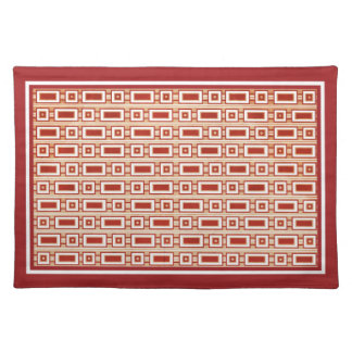Retro Rectangles Placemat - Red
