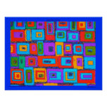 Retro Rectangles Poster or Canvas signed