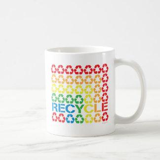 retro recycle coffee mug