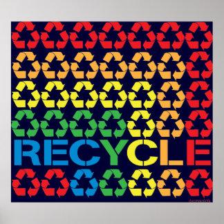 Retro Recycle Print