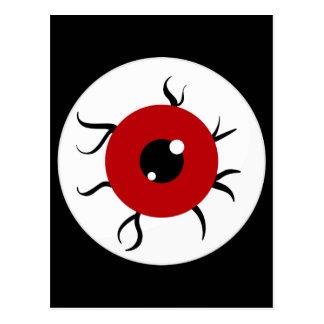 Retro Red and Black Eyeball Postcard