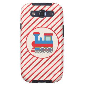 Retro Red and Blue Train Samsung Galaxy S3 Cover