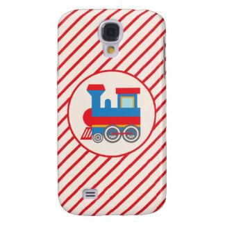 Retro Red and Blue Train Galaxy S4 Case