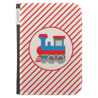 Retro Red and Blue Train Kindle Keyboard Case