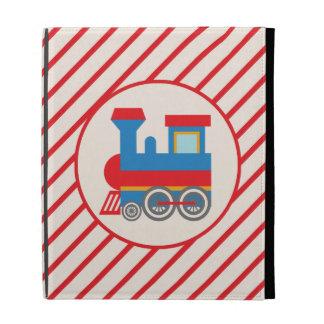 Retro Red and Blue Train iPad Cases