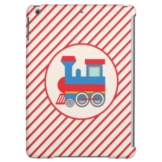 Retro Red and Blue Train Case For iPad Air