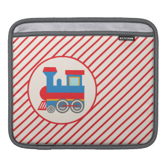 Retro Red and Blue Train iPad Sleeves
