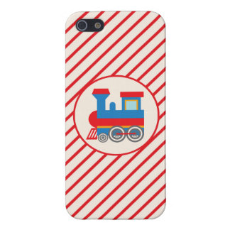 Retro Red and Blue Train iPhone 5/5S Cover