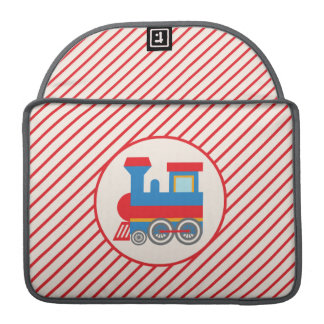 Retro Red and Blue Train Sleeve For MacBooks