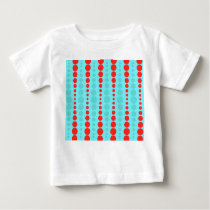 Retro Red and Turquoise Dots Baby T-Shirt