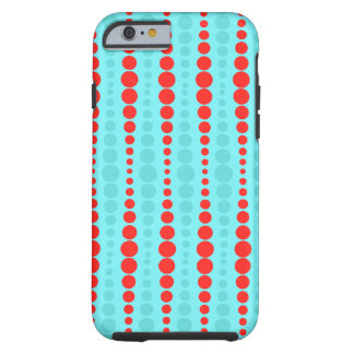 Retro Red and Turquoise Dots iPhone 6/6S Case