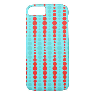 Retro Red and Turquoise Dots iPhone 7 Case