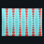 "Retro Red and Turquoise Dots Placemat<br><div class=""desc"">Whoever said, ""Dot, dot not a lot, "" never saw this Retro Red and Turquoise Dots Placemat. It features an aqua background with rows of vibrant red and turquoise circles in graduated sizes. This vintage inspired pattern is like the Russian nesting dolls of the polka dot world! It's retro. It's...</div>"