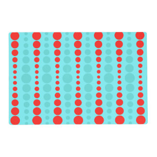 Retro Red and Turquoise Dots Placemat