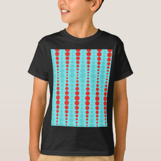 Retro Red and Turquoise Dots T-Shirt