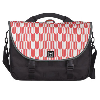 Retro Red and White Arrow Tails Pattern Commuter Bag