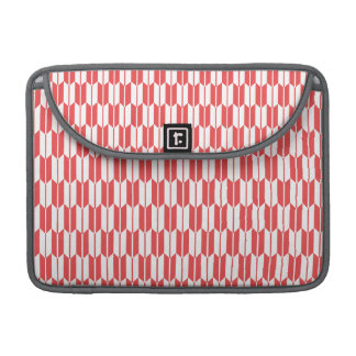Retro Red and White Arrow Tails Pattern MacBook Pro Sleeves