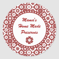 Retro Red and White Canning Jar Labels