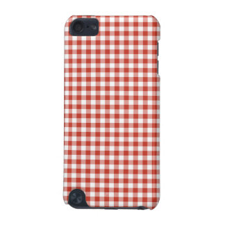 Retro Red and White Checkered Gingham iPod Touch (5th Generation) Cover