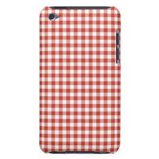 Retro Red and White Checkered Gingham Barely There iPod Cover