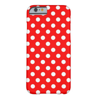 Retro Red and White Polka Dots iPhone 6 case