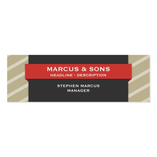 Retro Red Banner Skinny Business Card