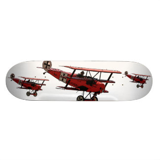 Retro Red Baron WWI pop art skateboard deck