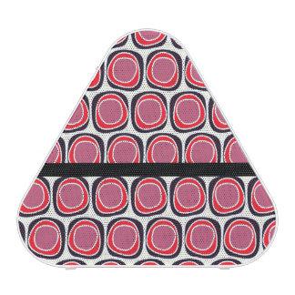 Retro red black polka dots pattern speaker