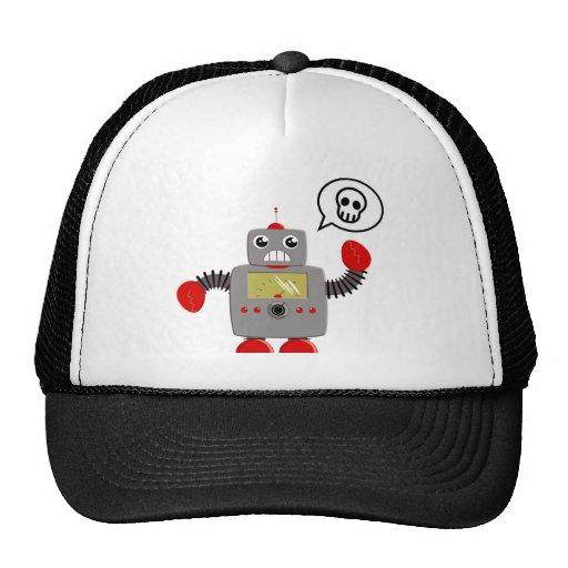 Retro Red Claw Robot Trucker Hat