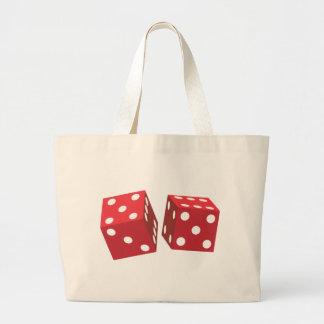 Retro Red Dice Large Tote Bag