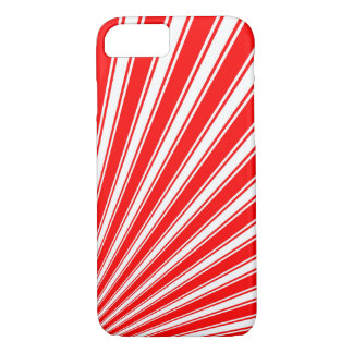 Retro Red Funky Sun Rays Background iPhone 8/7 Case