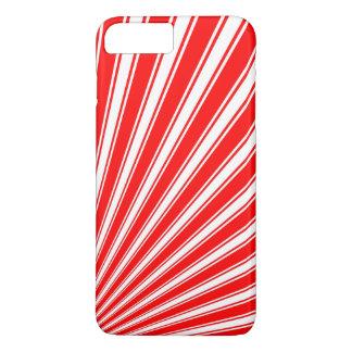 Retro Red Funky Sun Rays Background iPhone 8 Plus/7 Plus Case