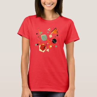 Retro Red Geometric T-Shirt