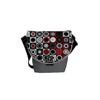 Retro Red Grey Mini Bag Messenger Bag